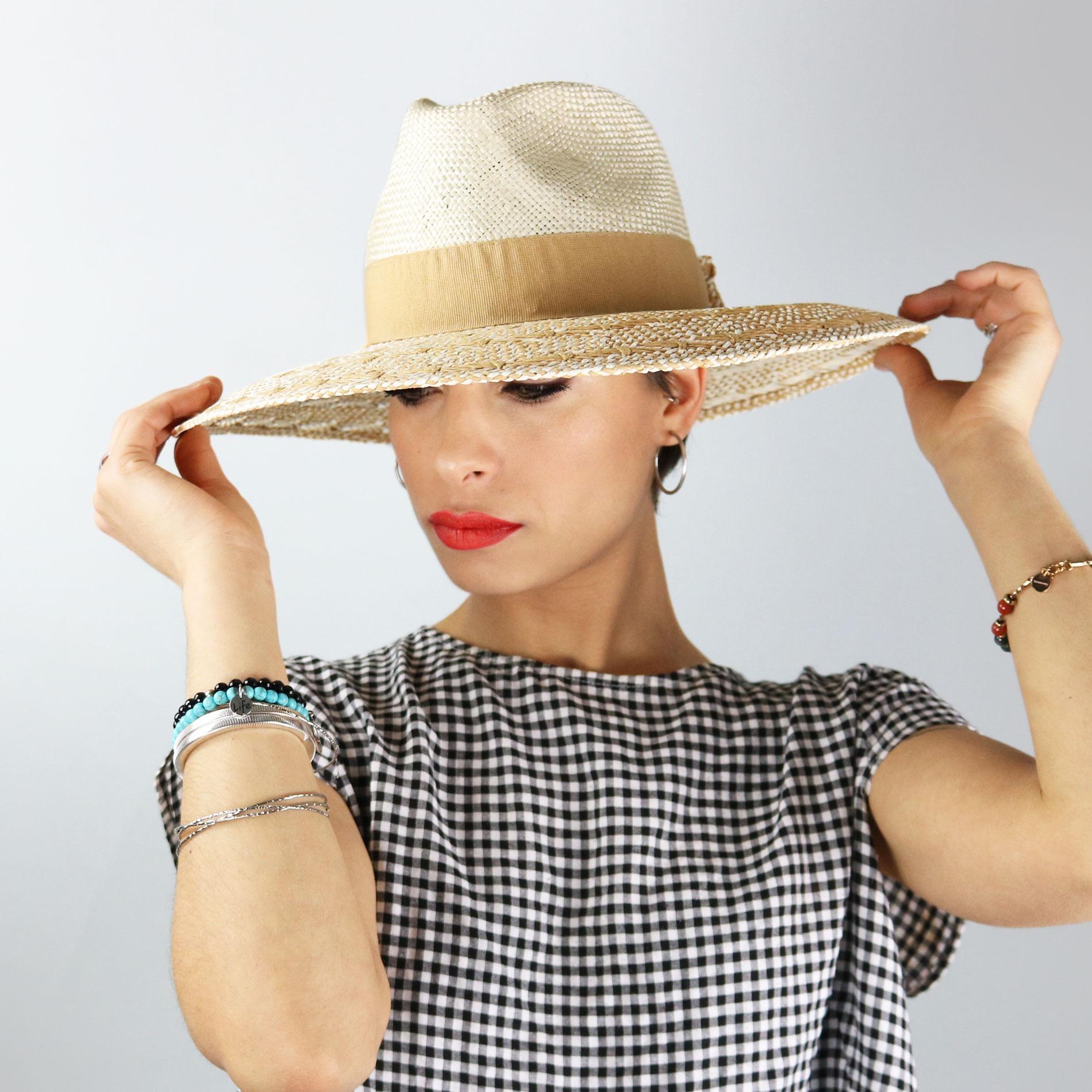 Cappello di paglia da donna - Cappello per l'estate