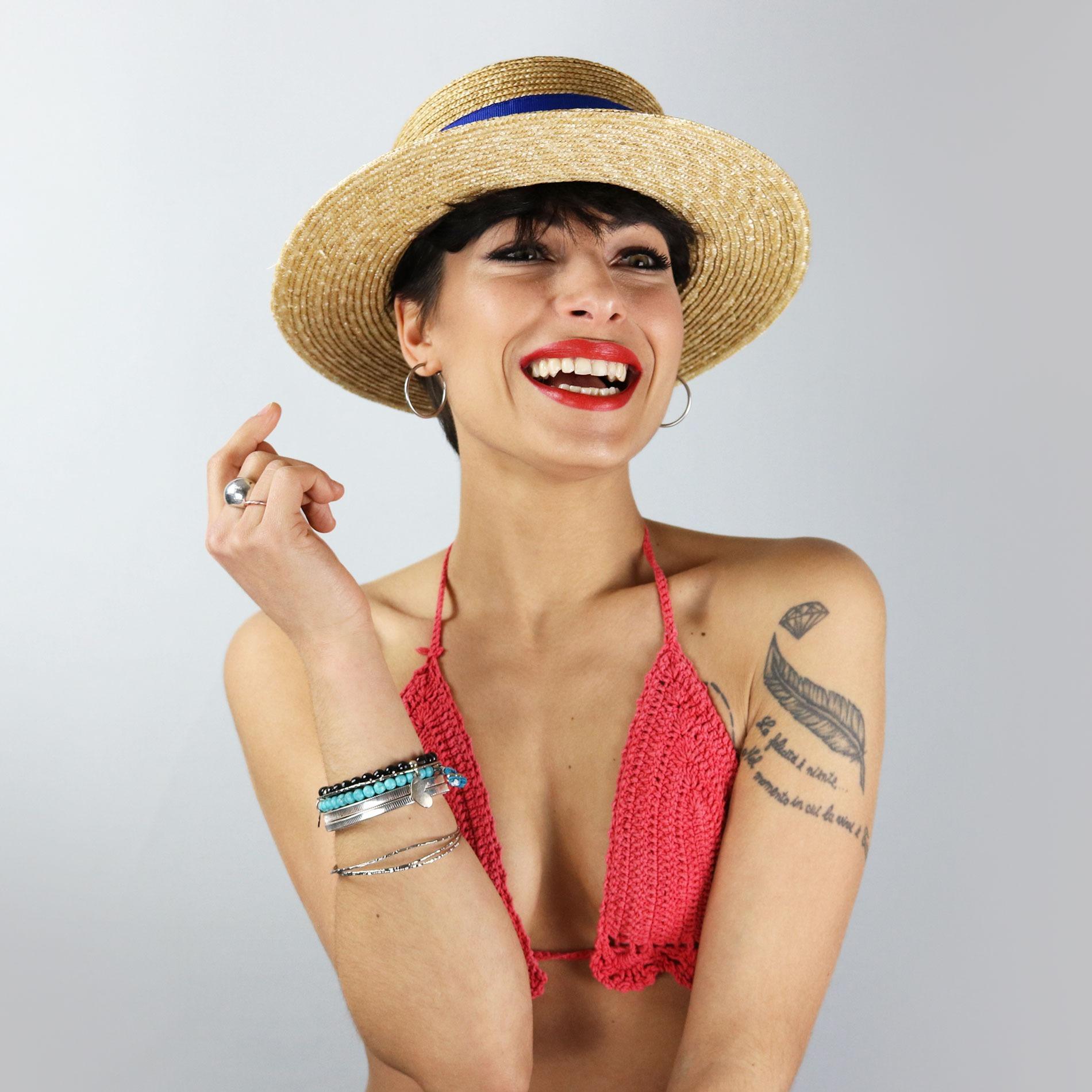 Cappello paglietta con decorazioni - Cappelli estivo!