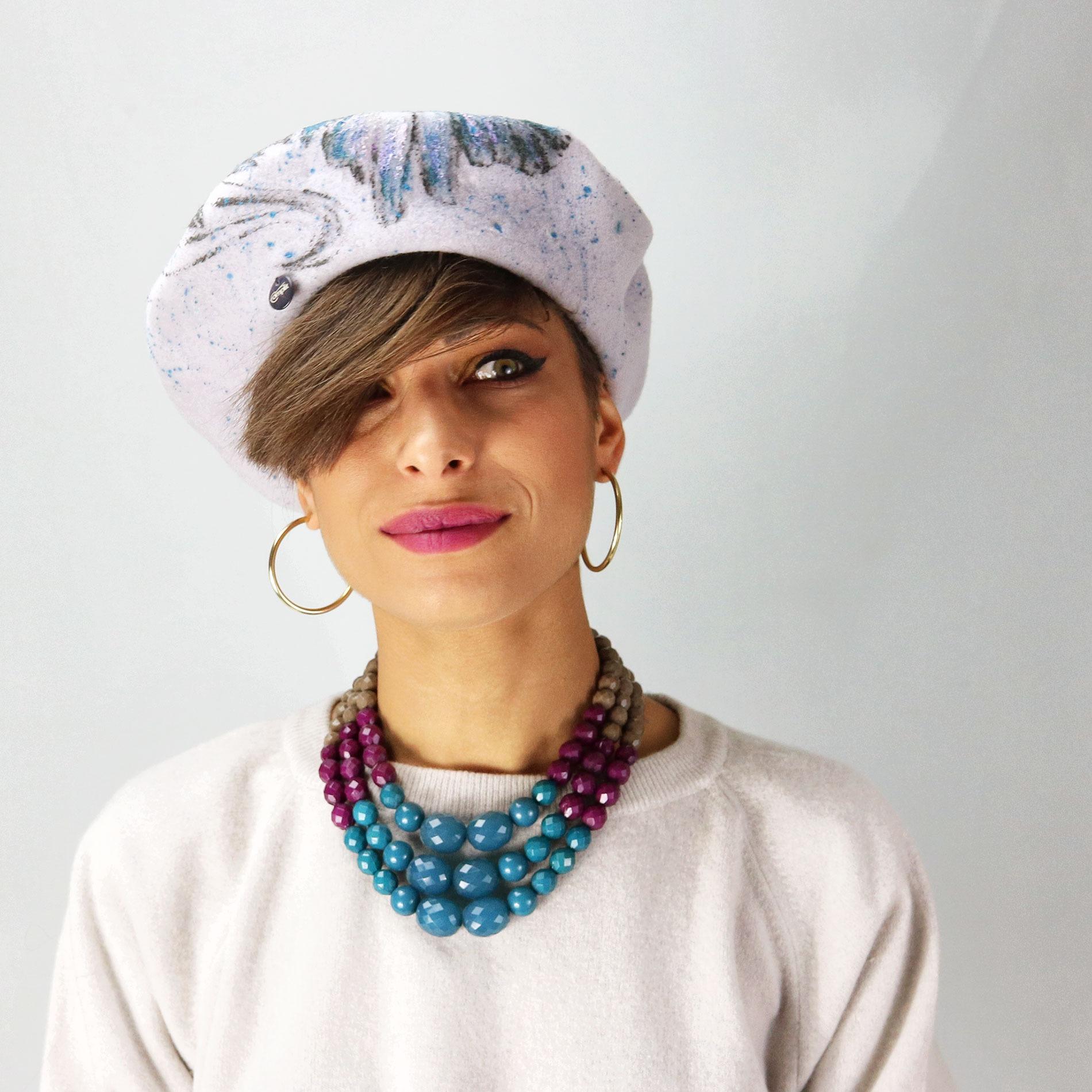 Basco da donna invernale in lana - Modello alla francese 247039417458